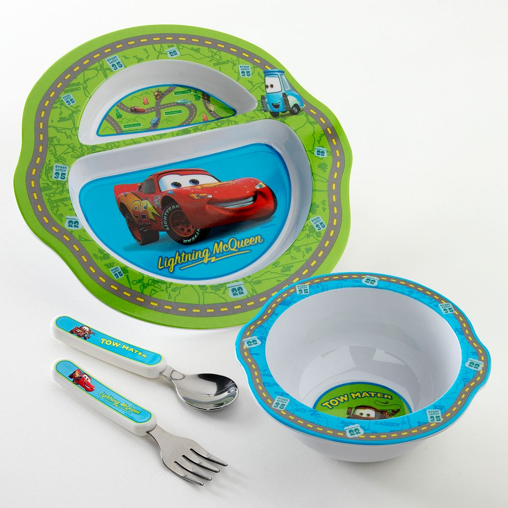 Disney Cars Tow Mater Plastic Baby Dish Bowl and Spoon Set