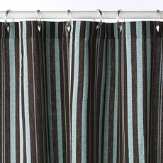 Echos Striped Shower Curtain