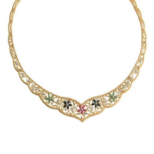 18k Gold-Over-Silver Semiprecious Necklace