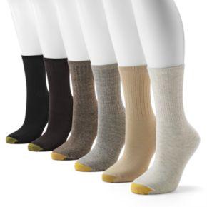 GOLDTOE 6-pk. Ribbed Crew Socks