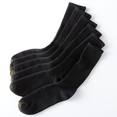 Men's GOLDTOE 6-pk. Athletic Extended Sizes Crew Socks