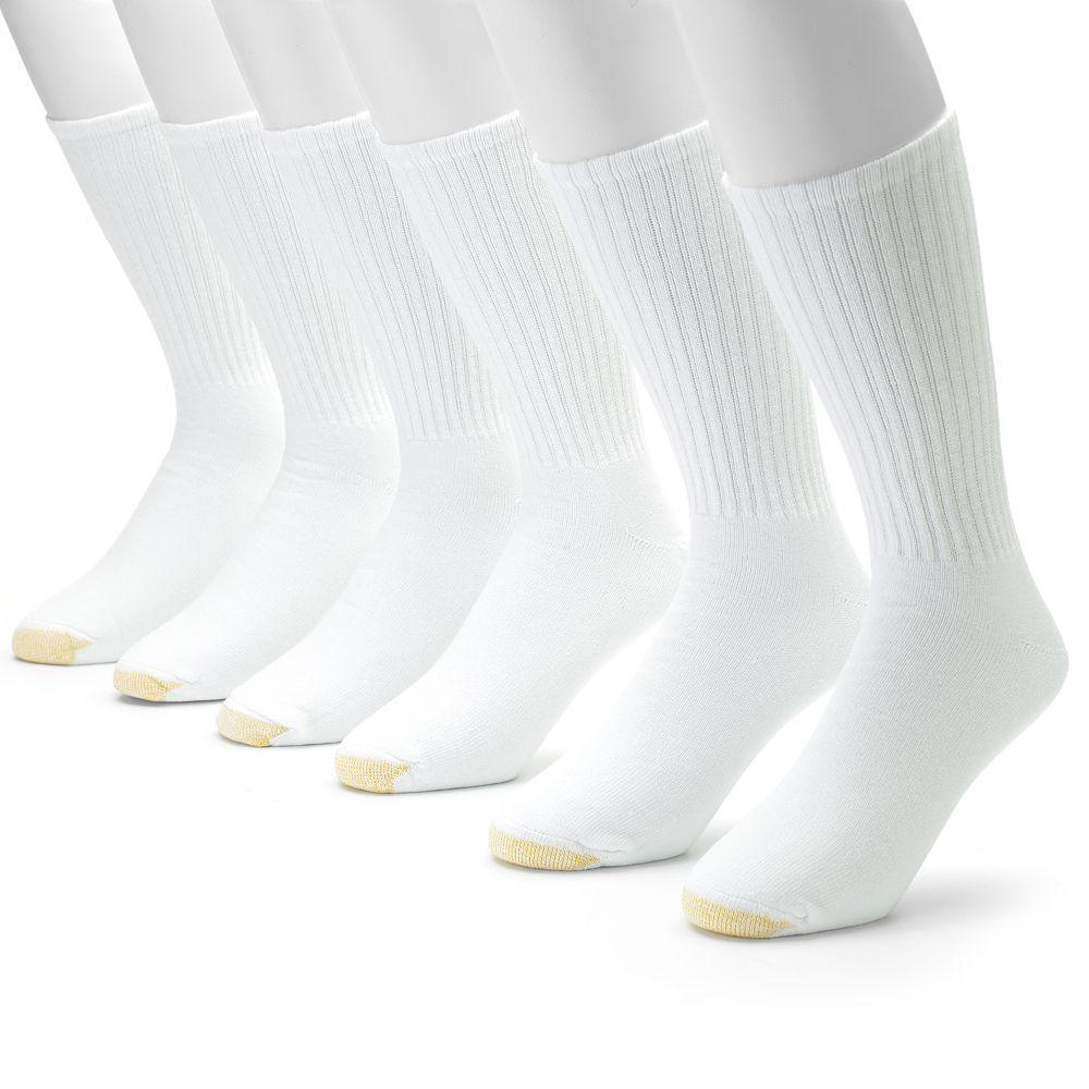 Men's GOLDTOE® 6-pk. Athletic Extended Sizes Crew Socks
