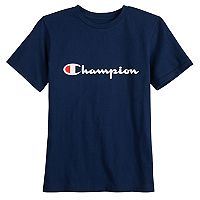 Boys 8-20 Champion Stript Logo Tee