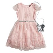 Girls 4-6x Knitworks Lace Skater Dress & Purse Set