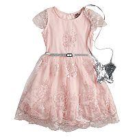 Girls 4-6x Knitworks Lace Skater Dress & Purse Set