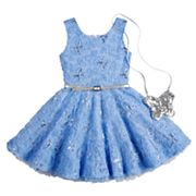 Girls 4-6x Knitworks Soutache Sequin Dress & Purse Set