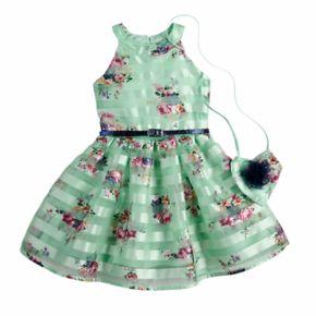 Girls 4-6x Knitworks Halter Skater Dress & Purse Set