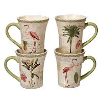 Certified International Floridian 4 pc Mug Set