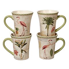 Certified International Floridian 4-pc. Mug Set