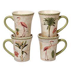 Certified International Floridian 4 pc Mug Set