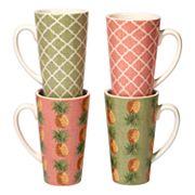 Certified International Floridian 4 pc Latte Mug Set