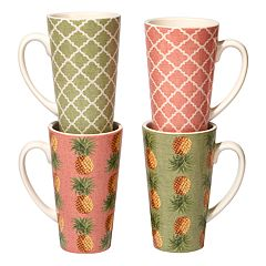 Certified International Floridian 4-pc. Latte Mug Set