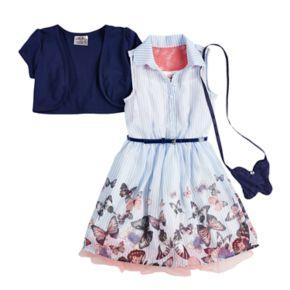 Girls 4-6x Knitworks Shrug, Shirt Dress & Purse Set