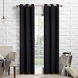 The Big One® Room Darkening 2-pack James Solid Stripe Window Curtain