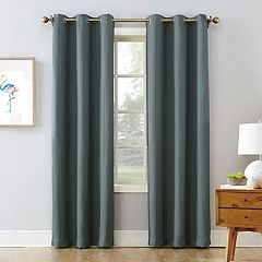 The Big OneR Blackout 2 Pack James Solid Stripe Window Curtain