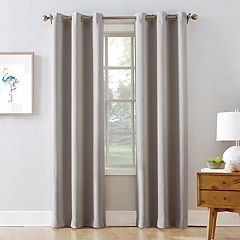 The One Blackout 2 Pack James Solid Stripe Window Curtain