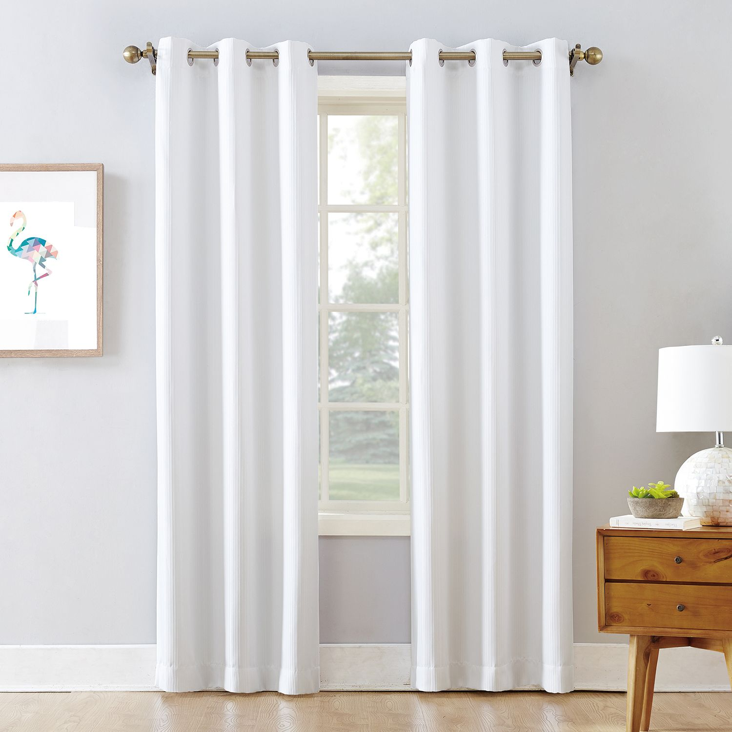 Etonnant The Big One® Blackout 2 Pack James Solid Stripe Window Curtain