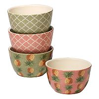 Certified International Floridian 4 pc Ice Cream Bowl Set