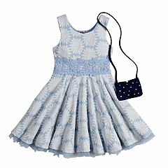 Girls 4-6x Knitworks Daisy Dress & Purse Set