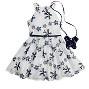 Girls 4-6x Knitworks Butterfly Halter Skater Dress & Purse Set