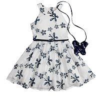 Girls 4-6x Knitworks Butterfly Halter Skater Dress & Purse Set