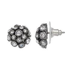 Simply Vera Vera Wang Fireball Dome Nickel Free Stud Earrings