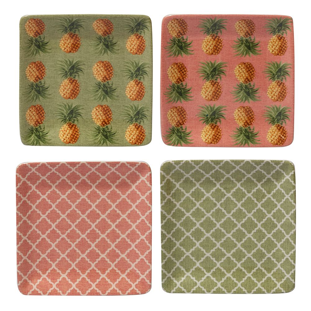 Certified International Floridian 4-pc. Canape Plate Set