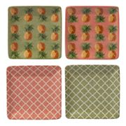 Certified International Floridian 4 pc Canape Plate Set