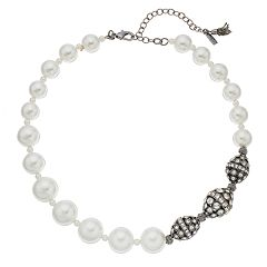 Simply Vera Vera Wang Asymmetrical Simulated Pearl Necklace