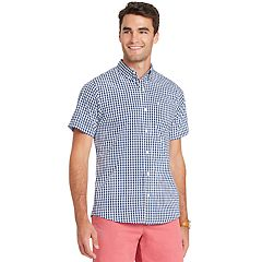 Men's IZOD Advantage Cool FX Regular-Fit Plaid Moisture-Wicking Button-Down Shirt