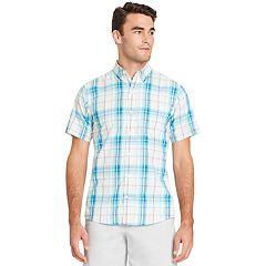 Men's IZOD  CoolFX Classic-Fit Plaid Moisture-Wicking Button-Down Shirt