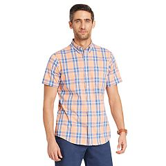 Men's IZOD  CoolFX Classic-Fit Plaid Moisture-Wicking Button-Down Shirt