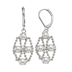 Simply Vera Vera Wang Simulated Pearl Nickel Free Kite Earrings