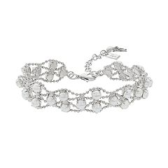 Simply Vera Vera Wang Simulated Pearl Cabochon Bracelet