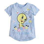 Toddler Girl Jumping Beans® Looney Tunes Tweety Bird 'I'm A Sweetie' Glitter Graphic Tee