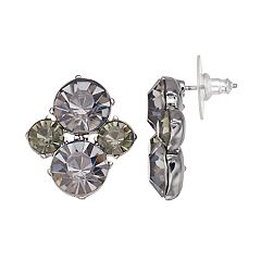 Simply Vera Vera Wang Stone Cluster Nickel Free Drop Earrings