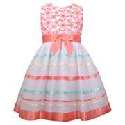 Girls 4-6x Bonnie Jean Striped Embroidered Dress