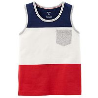Baby Boy Carter's Striped Red, White & Blue Tank Top