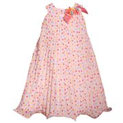 Girls 4-6x Bonnie Jean Dot Chiffon U-Neck Dress