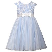 Girls 4-6x Bonnie Jean Metallic Floral Ballerina Skirt Dress