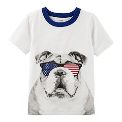 Baby Boy Carter's Bulldog in Patriotic Sunglasses Graphic Tee