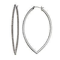 Simply Vera Vera Wang Inside-Out Nickel Free Marquise Hoop Earrings