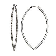 Simply Vera Vera Wang Inside-Out Nickel Free Marquise Hoop Earrings