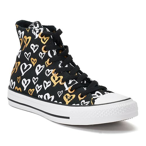 234e535ee46879 Women s Converse Chuck Taylor All Star Heart Print High Top Sneakers