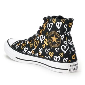 Women's Converse Chuck Taylor All Star Heart Print High Top Sneakers
