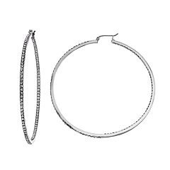 Simply Vera Vera Wang Inside-Out Nickel Free Hoop Earrings