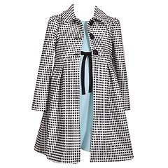 Girls 4-6x Bonnie Jean Textured Knit Coat & Knit Dress