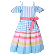 Girls 4-6x Bonnie Jean Striped Linen Dress