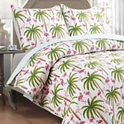 Panama Jack Flamingo Quilt Set