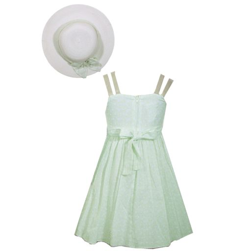 Girls 4-6x Bonnie Jean Pastel Dot Easter Dress & Matching Hat Set